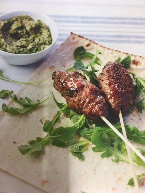 Lamb Koftas with Aubergine Dip